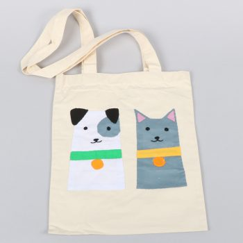 Cat and dog book bag | TradeAid
