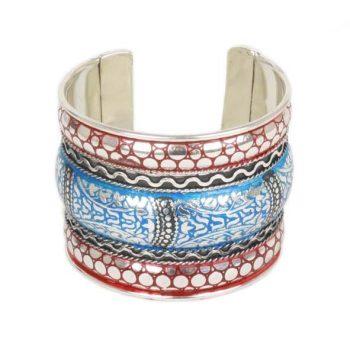 Blue and red enamel cuff | TradeAid