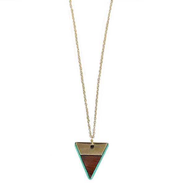 Triangle pendant necklace | TradeAid