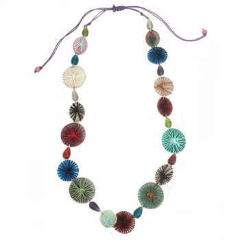 Glass bead and threadwork necklace | TradeAid