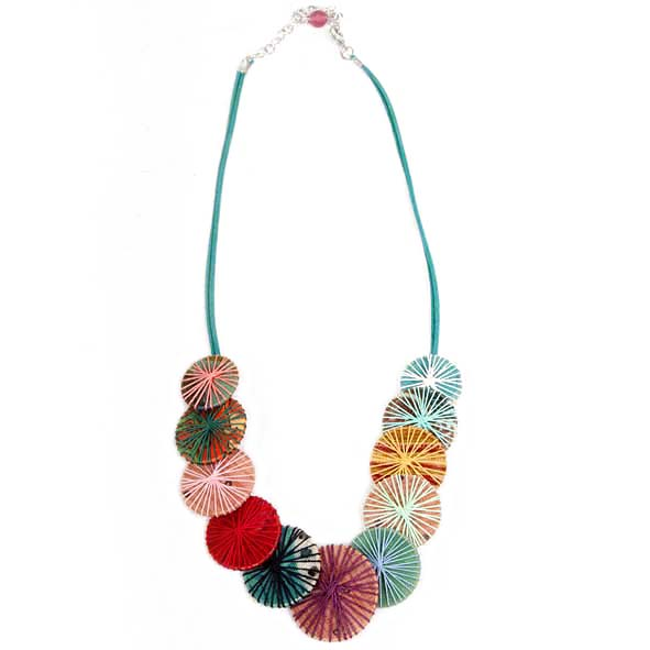 Recycled fabric necklace   TradeAid