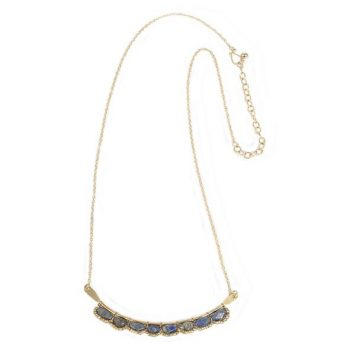 Blue stone bar necklace | TradeAid