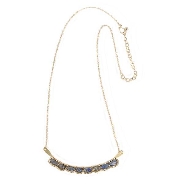 Blue stone bar necklace | TradeAid