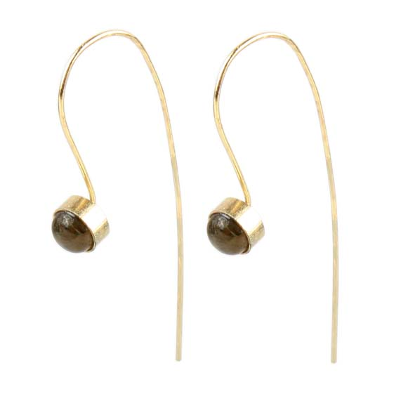Earrings with grey stone | TradeAid
