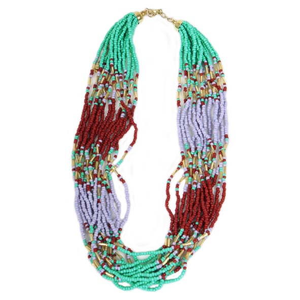 15 strand glass bead necklace | TradeAid