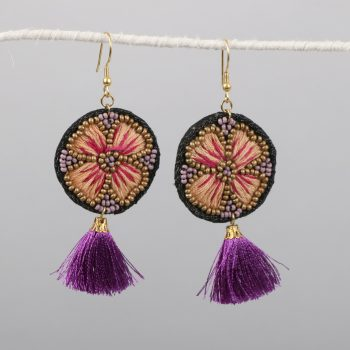Embroidered floral earrings | TradeAid