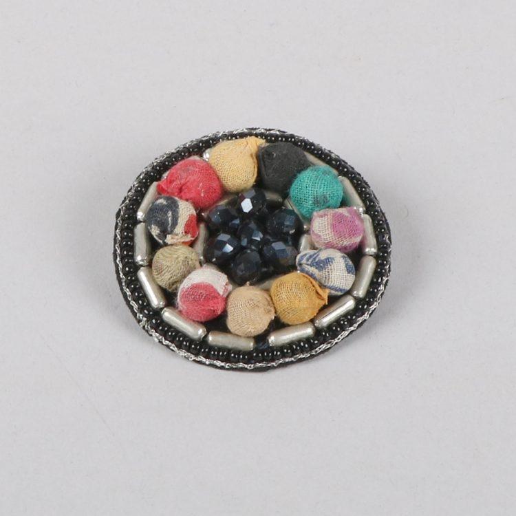 Recycled fabric bead brooch | TradeAid