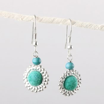 Teal bead earrings | TradeAid