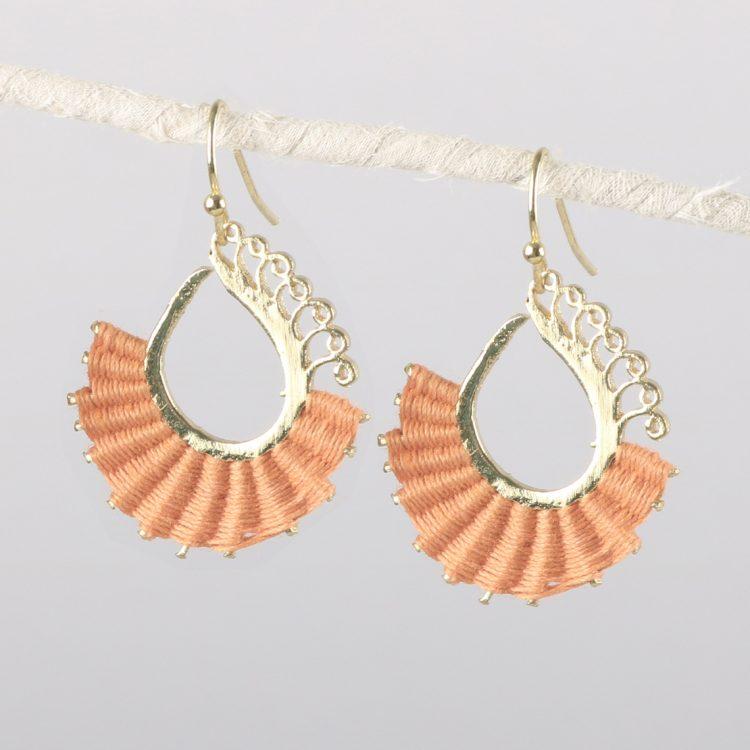 Orange thread earrings   TradeAid