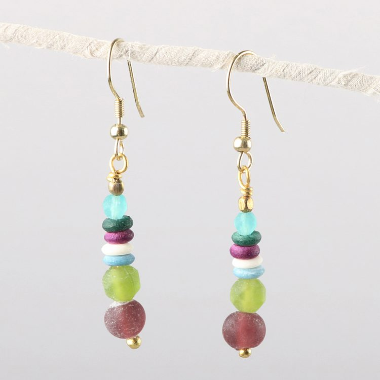 Pastel bead earrings | TradeAid
