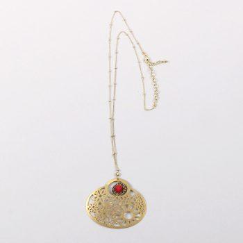 Metal flower pendant necklace   TradeAid