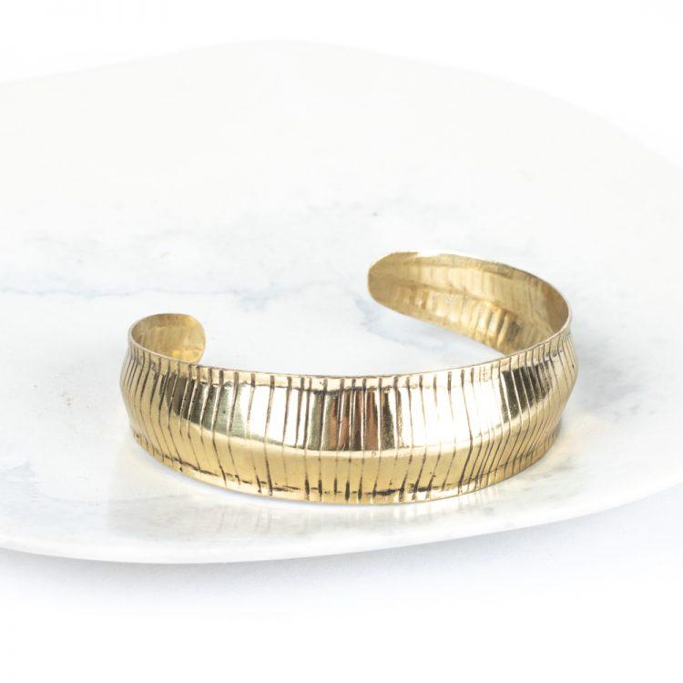 Striped metal cuff | TradeAid