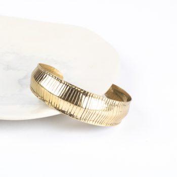 Striped metal cuff | Gallery 1 | TradeAid