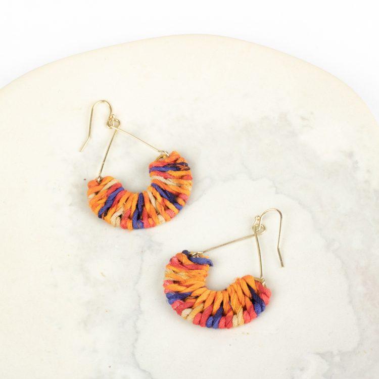 Semi circle sari earrings | Gallery 1 | TradeAid