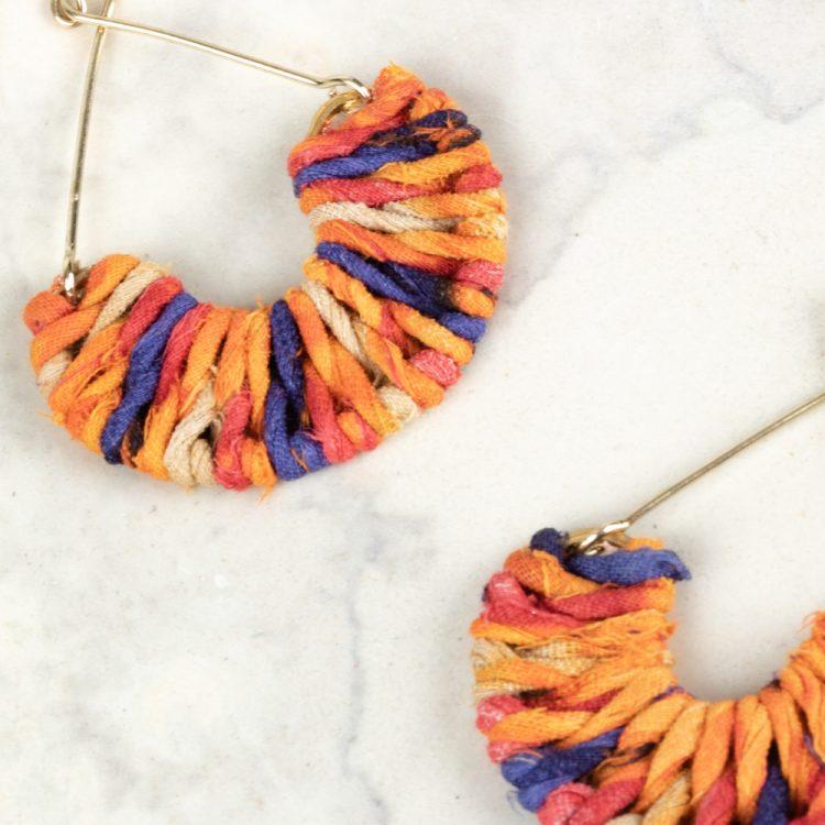 Semi circle sari earrings | Gallery 2 | TradeAid