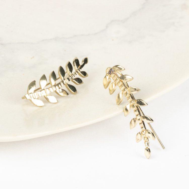 Metal leaf earrings | Gallery 2 | TradeAid