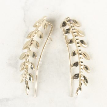 Metal leaf earrings | TradeAid