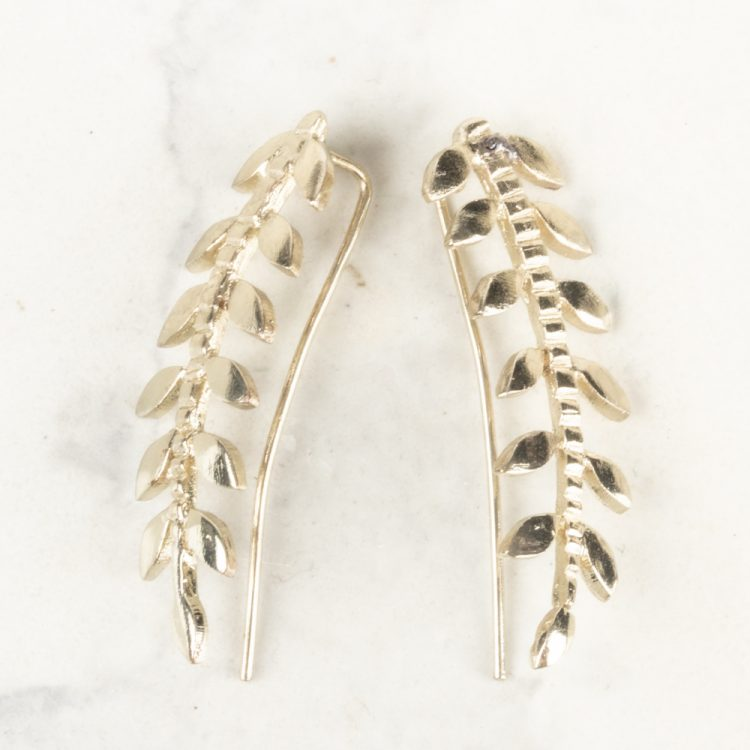 Metal leaf earrings | TradeAid
