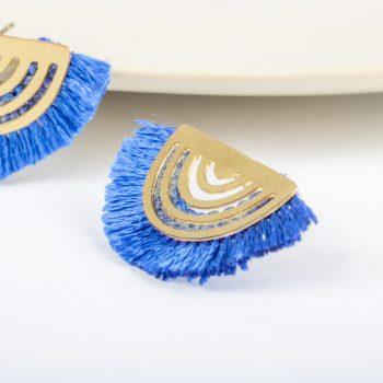 Blue fringe earrings | Gallery 1 | TradeAid