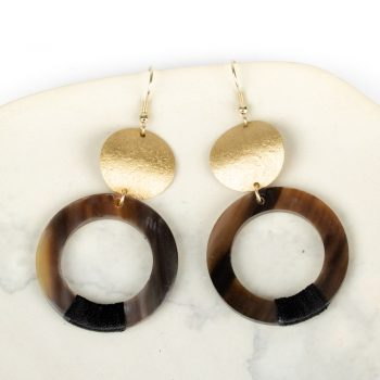 Horn circle earrings | TradeAid
