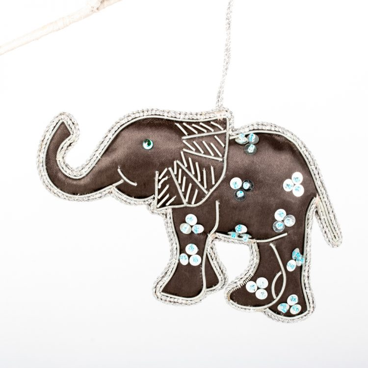 Zari embroidered elephant | TradeAid