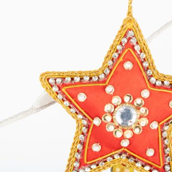 Zari embroidered red star   Gallery 1   TradeAid