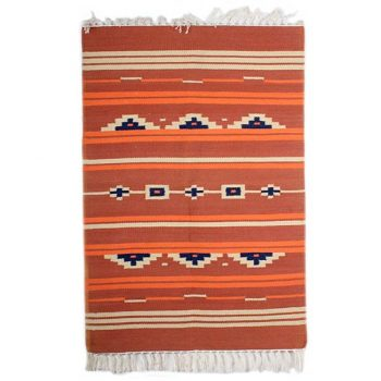 Small orange patterned rug | TradeAid