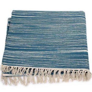 X-large blue and white managers design rug | TradeAid
