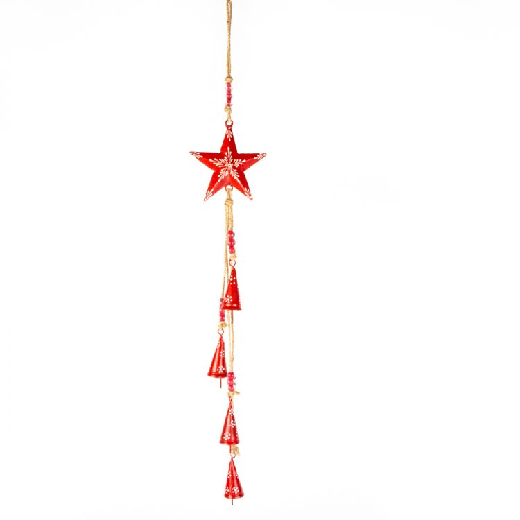 Red star and bell hanging | TradeAid