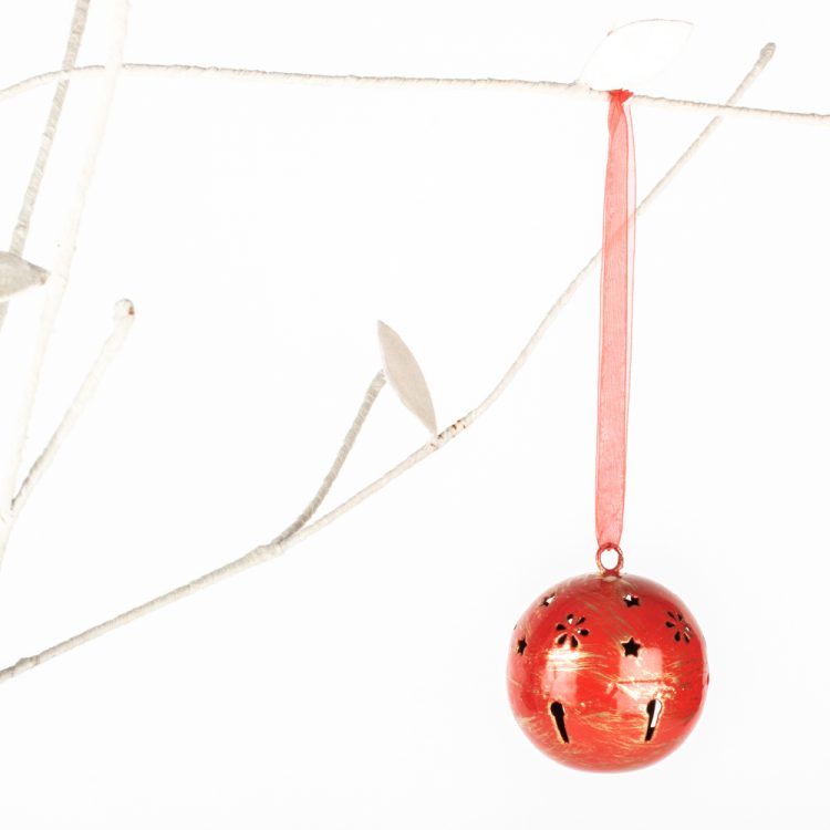 Red metal ball hanging | Gallery 1 | TradeAid