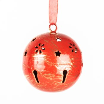 Red metal ball hanging | TradeAid