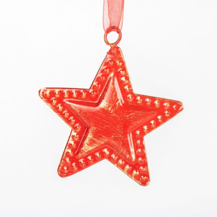 Red metal star hanging | TradeAid