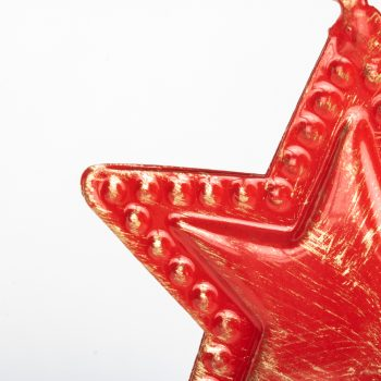 Red metal star hanging | Gallery 2 | TradeAid