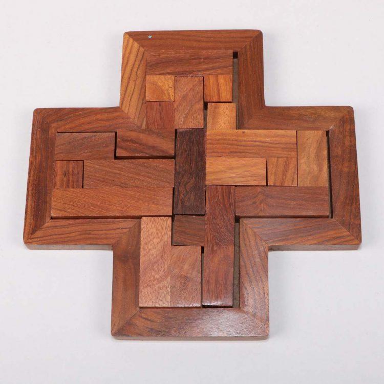 Sheeshamwood cross puzzle | TradeAid