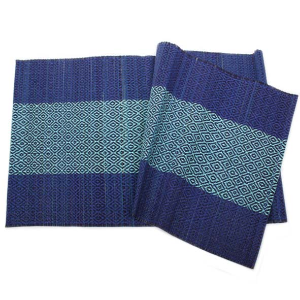 Navy and teal table runner | TradeAid
