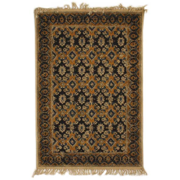 Small black and gold geometric rug | Gallery 1 | TradeAid