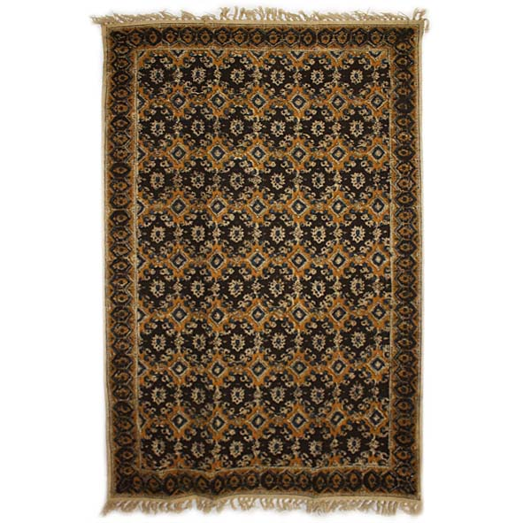 Medium black and gold geometric rug   Gallery 1   TradeAid