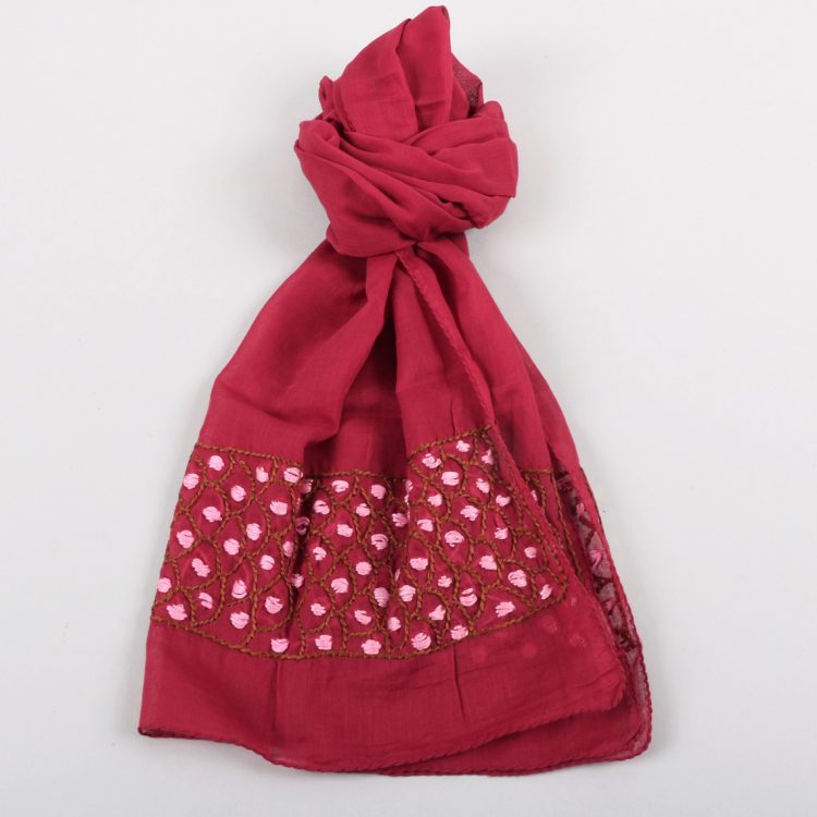 Red cotton scarf   TradeAid