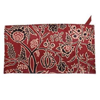 Floral shanti leather purse | TradeAid