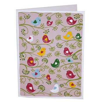 Birds on branch greeting card | TradeAid