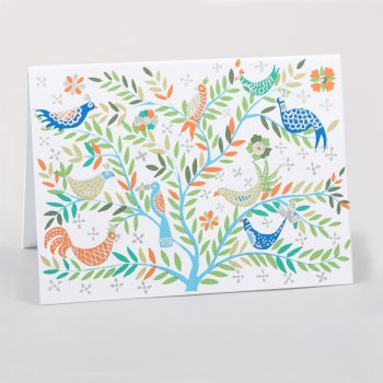Orange and green bird card | TradeAid