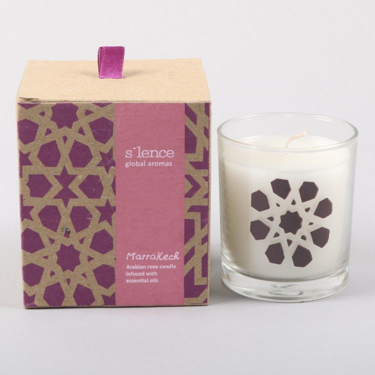 Large marrakech rose candle | TradeAid