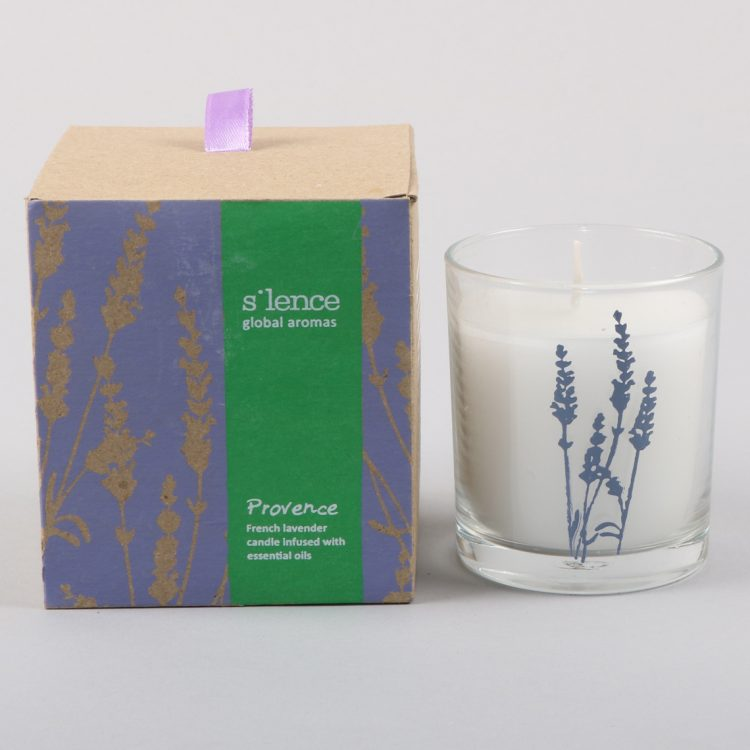 Large provence french lavender scented candle | TradeAid