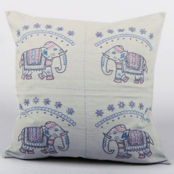 Four elephant cushion cover | TradeAid