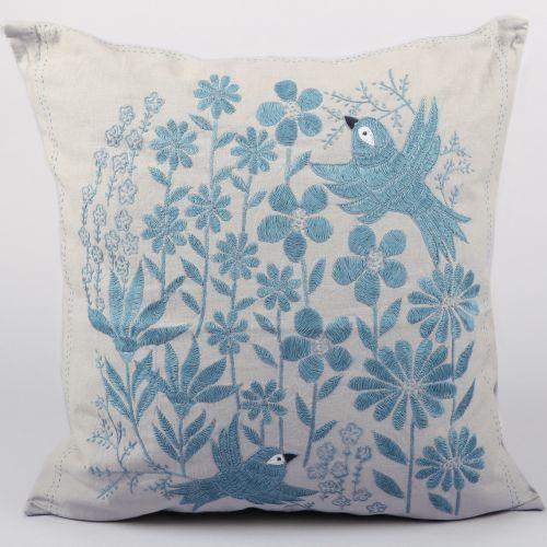 Bird and flower cushion cover | TradeAid