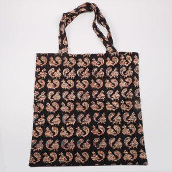Black kalamkari bag   TradeAid