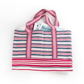 Red and blue stripe shopper | Gallery 1 | TradeAid