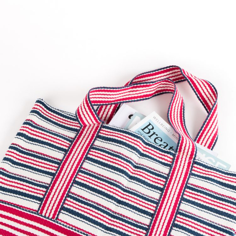 Red and blue stripe shopper | Gallery 2 | TradeAid