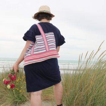 Red and blue stripe shopper | TradeAid