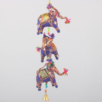 3 hanging elephants with bell | TradeAid